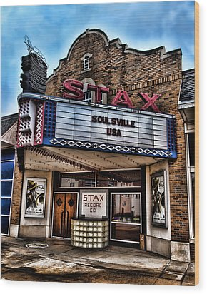 Stax Records Wood Print by Stephen Stookey