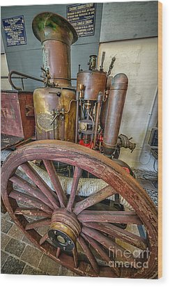 Steam Fire Engine Wood Print by Adrian Evans