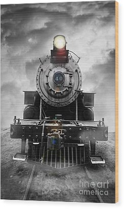 Steam Train Dream Wood Print by Edward Fielding