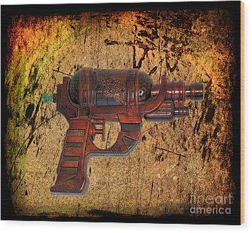 Steampunk - Gun - Ray Gun Wood Print by Paul Ward