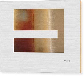 Steamy Mirror Wood Print by Xoanxo Cespon