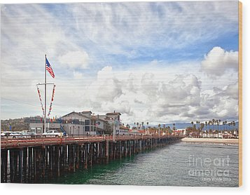 Stearns Wharf Santa Barbara California Wood Print by Artist and Photographer Laura Wrede