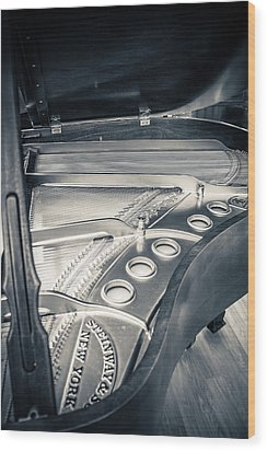 Steinway Wood Print by Carrie Cole