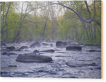 Stepping Stones Wood Print by Bill Cannon