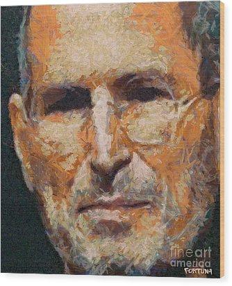 Steve Jobs Wood Print by Dragica  Micki Fortuna