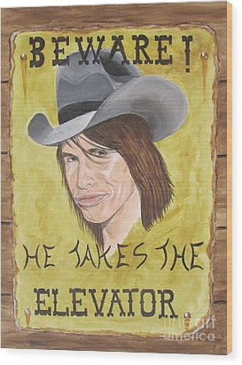 Steven Tyler As A Cowboy Wood Print by Jeepee Aero