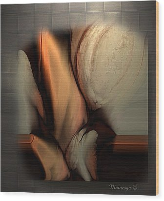 Still Abstract Wood Print by Ines Garay-Colomba