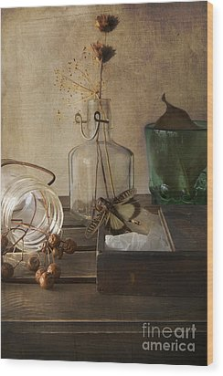 Still Life With Grasshopper Wood Print by Elena Nosyreva