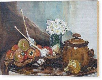 Still Life With Tomatos Wood Print by Irek Szelag