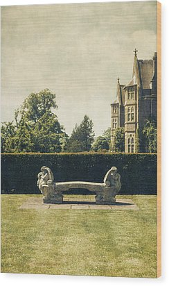 Stone Bench Wood Print by Joana Kruse