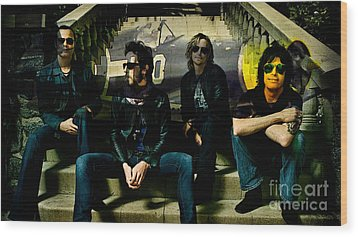 Stone Temple Pilots Wood Print by Marvin Blaine
