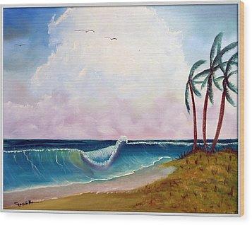 Storm On The Horizon Wood Print by Joyce Krenson