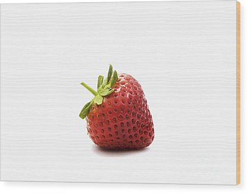 Strawberry II Wood Print by Natalie Kinnear
