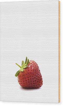 Strawberry Wood Print by Natalie Kinnear