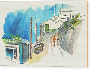 Street In Ericeira In Portugal Wood Print by Miki De Goodaboom