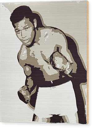 Sugar Ray Robinson Wood Print by Florian Rodarte