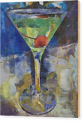 Summer Breeze Martini Wood Print by Michael Creese