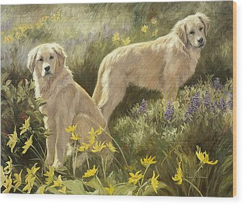 Summer Day Wood Print by Lucie Bilodeau