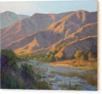 Summer Evening Eaton Canyon Wood Print by Armand Cabrera