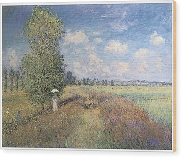 Summer Field Of Poppies Wood Print by Claude Monet