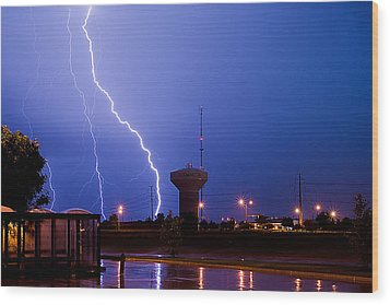 Summer Storm Wood Print by Jim Finch