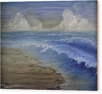 Summer Surf Wood Print by Judy Hall-Folde