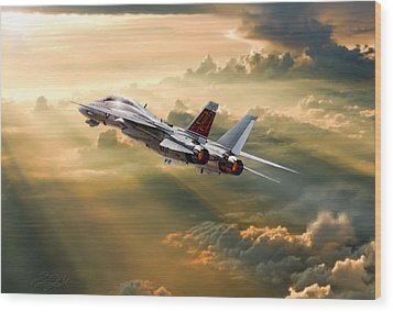 Sun Catcher Tomcat Wood Print by Peter Chilelli