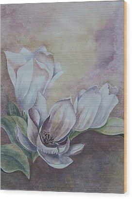 Sun Tulips Wood Print by Jayne Morgan