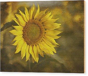 Sunflower And Sunshine  Wood Print by Ivelina G