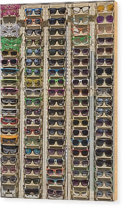 Sunglasses Wood Print by Peter Tellone