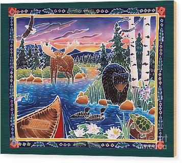 Sunrise At Bear Lake Wood Print by Harriet Peck Taylor