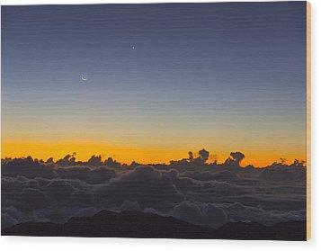 Sunrise Haleakala Volcano Wood Print by Norman Blume