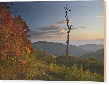 Sunrise In Shenandoah National Park Wood Print by Pierre Leclerc Photography