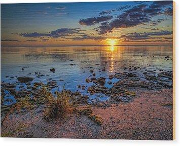 Sunrise Over Lake Michigan Wood Print by Scott Norris