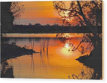 Sunrise Over Orlando Wetlands Wood Print by AnnaJo Vahle