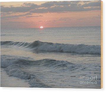 Sunrise Wood Print by Polly Anna