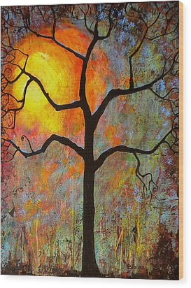 Sunrise Sunset Wood Print by Blenda Studio