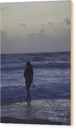 Sunrise Surf Wood Print by Tannis  Baldwin