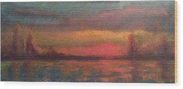 Sunset 2012 Wood Print by Piotr Wolodkowicz