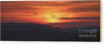 Sunset Wood Print by Amanda Mohler