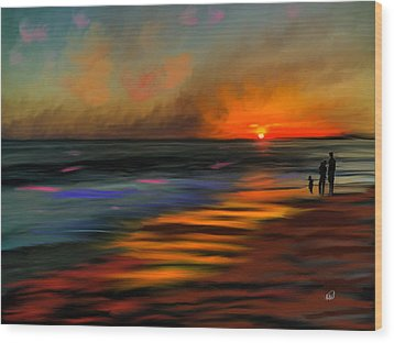 Sunset At Capo Beach In California Wood Print by Angela A Stanton