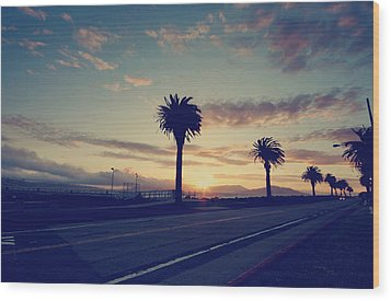 Sunset Drive Wood Print by Laurie Search