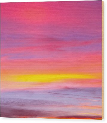 Sunset In Florda Wood Print by Dennis Dugan
