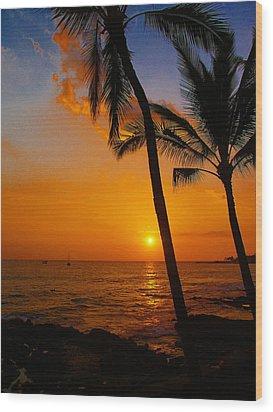 Sunset In Paradise Wood Print by Athala Carole Bruckner