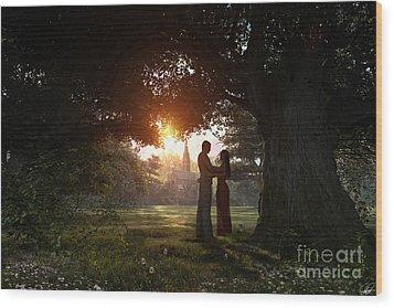 Sunset Lovers Wood Print by Dominic Davison