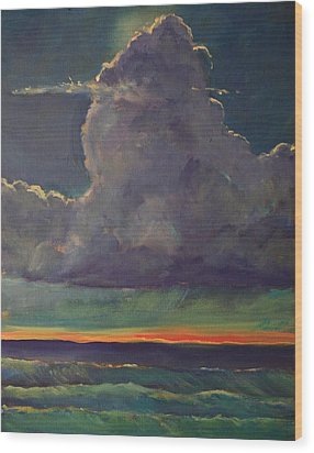 Sunset Moonglow Wood Print by Jim Noel