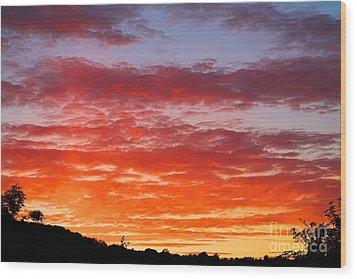 Sunset Wood Print by Natalie Kinnear
