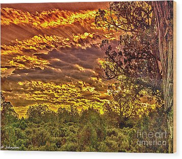 Sunset Navajo Tribal Park Canyon De Chelly Wood Print by Bob and Nadine Johnston