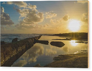 Sunset Over The Ocean II Wood Print by Marco Oliveira
