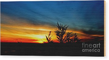 Sunset Overlooking Pacifica Ca IIi Wood Print by Jim Fitzpatrick
